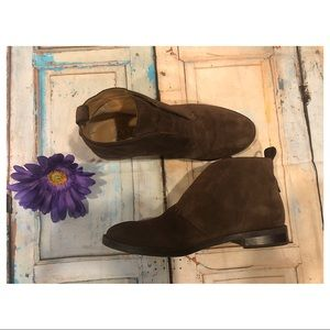 Franco Sarto Isolde Suede Slip On Ankle Boots
